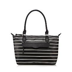 Call It Spring - Black 'Jay' striped shoulder bag