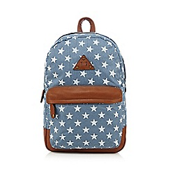 Call It Spring - Light blue 'Hilama' star print backpack