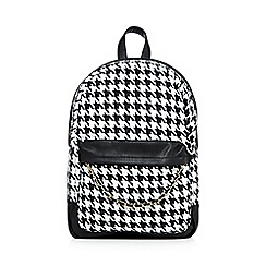Call It Spring - Black 'Loreo' dogtooth backpack