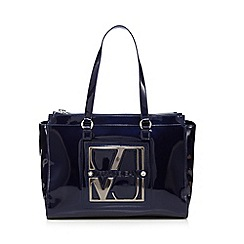 Versace Jeans - Blue patent shoulder bag