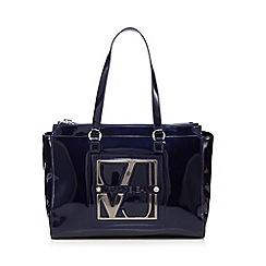 Versace Jeans - Blue patent shoulder bag