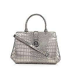 Versace Jeans - Silver croc grab bag