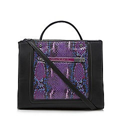 Versace Jeans - Purple croc detail grab bag