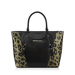 Versace Jeans - Black leopard print tote bag