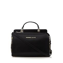 Versace Jeans - Black leopard print grab bag