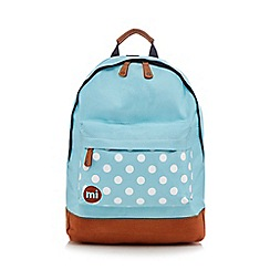 Mi-Pac - Turquoise polka dot backpack