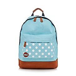 Mi-Pac - Turquoise polka dot 'Classic' backpack