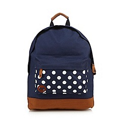 Mi-Pac - Navy polka dot backpack