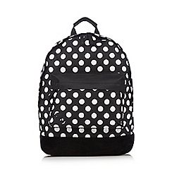 Mi-Pac - Black polka dot backpack