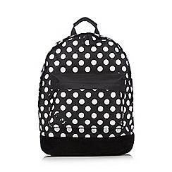 Mi-Pac - Black polka dot 'Classic' backpack