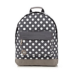 Mi-Pac - Grey all-over polka dot print 'Classic' backpack