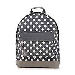 Mi-Pac - Grey all-over polka dot print 'Classic' backpack