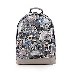 Mi-Pac - Light grey floral backpack