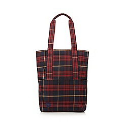 Mi-Pac - Red tartan shopper bag