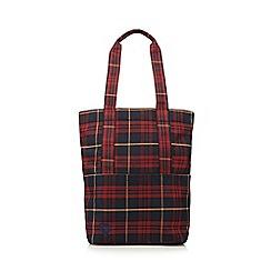 Mi-Pac - Red tartan shopper bag