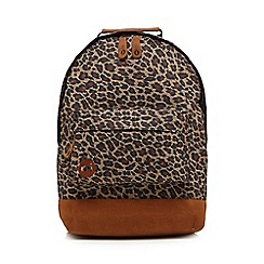 Mi-Pac - Tan leopard print backpack