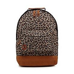 Mi-Pac - Tan leopard print backpack