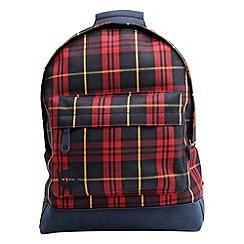 Mi-Pac - Maroon tartan backpack