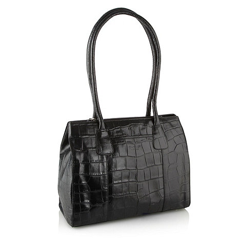 O.S.P OSPREY - Berlin black calf croc leather a4 bag