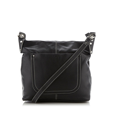 ... Large versailles black nappa leather cross-body bag- at Debenhams