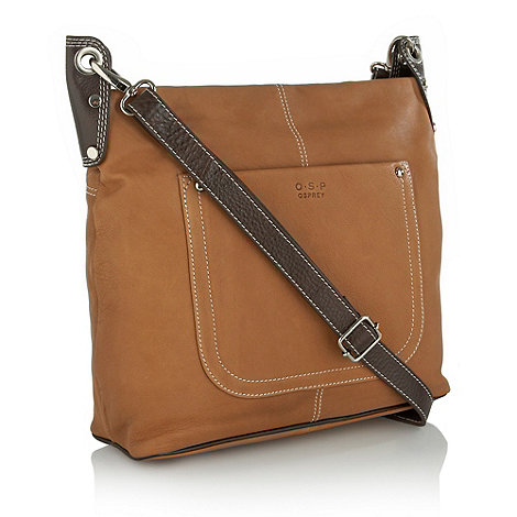 O.S.P OSPREY - Versailles nappa leather cross-body bag