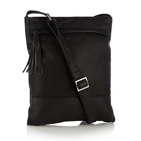 O.S.P OSPREY - Black tassel brussels cross body bag