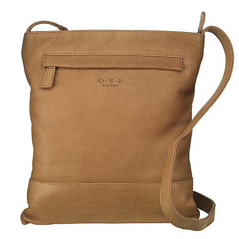 O.S.P OSPREY - Brussels natural nappa leather cross-body bag