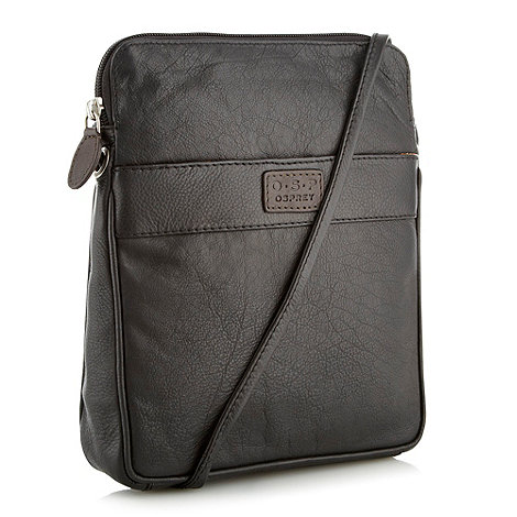 O.S.P OSPREY - Strasbourg black nappa leather cross-body bag