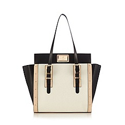 Lipsy - Cream colour block winged tote bag
