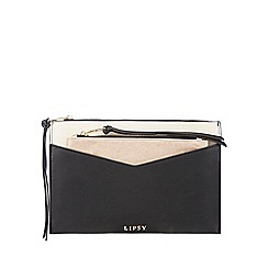 Lipsy - Black pouch clutch bag