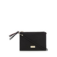 Lipsy - Wine double gusset cross body bag