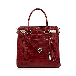 J by Jasper Conran - Red snakeskin-effect tote bag