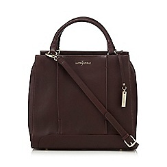 J by Jasper Conran - Dark red leather large grab bag