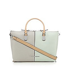 J by Jasper Conran - Light green colour block tote bag