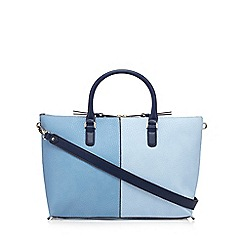 J by Jasper Conran - Blue colour block tote bag