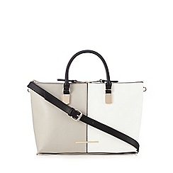 J by Jasper Conran - Grey colour block tote bag