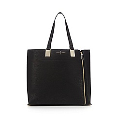 J by Jasper Conran - Black colour block shoulder bag