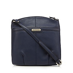 J by Jasper Conran - Navy leather cross body bag