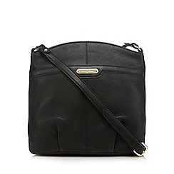 J by Jasper Conran - Black leather cross body bag
