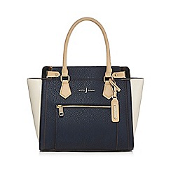J by Jasper Conran - Navy croc-effect tote bag