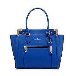 J by Jasper Conran - Blue croc-effect tote bag