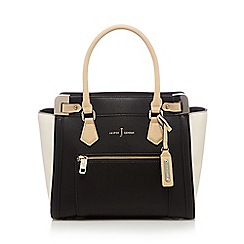 J by Jasper Conran - Black colour block tote bag