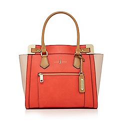 J by Jasper Conran - Coral croc-effect tote bag