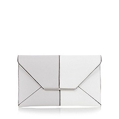 J by Jasper Conran - Grey colour block envelope clutch bag