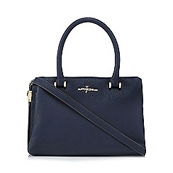 J by Jasper Conran - Navy leatherette shoulder bag