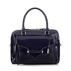 J by Jasper Conran - Navy bar lock bowler bag
