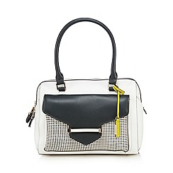 J by Jasper Conran - White bar lock bowler bag