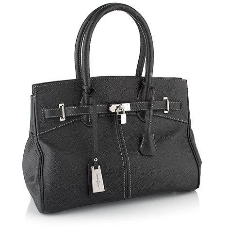 J by Jasper Conran - Designer black belted padlock tote bag