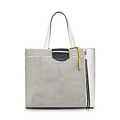 J by Jasper Conran - White bar lock shopper bag