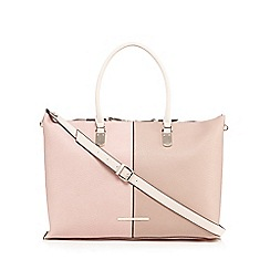 J by Jasper Conran - Pink colour block weekender bag